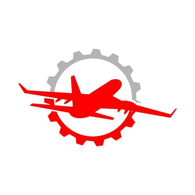 齿轮和飞机相结合的矢量背景