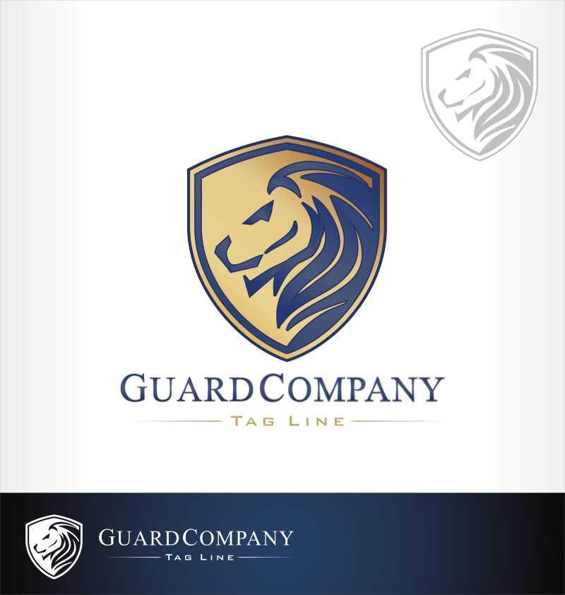 矢量的狮子商标