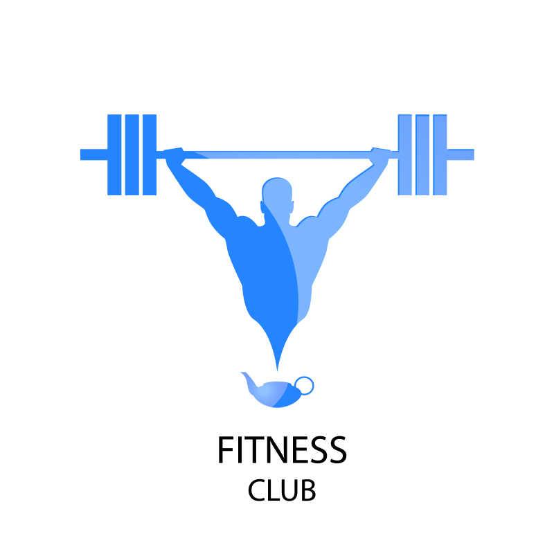 健身俱乐部矢量徽章设计