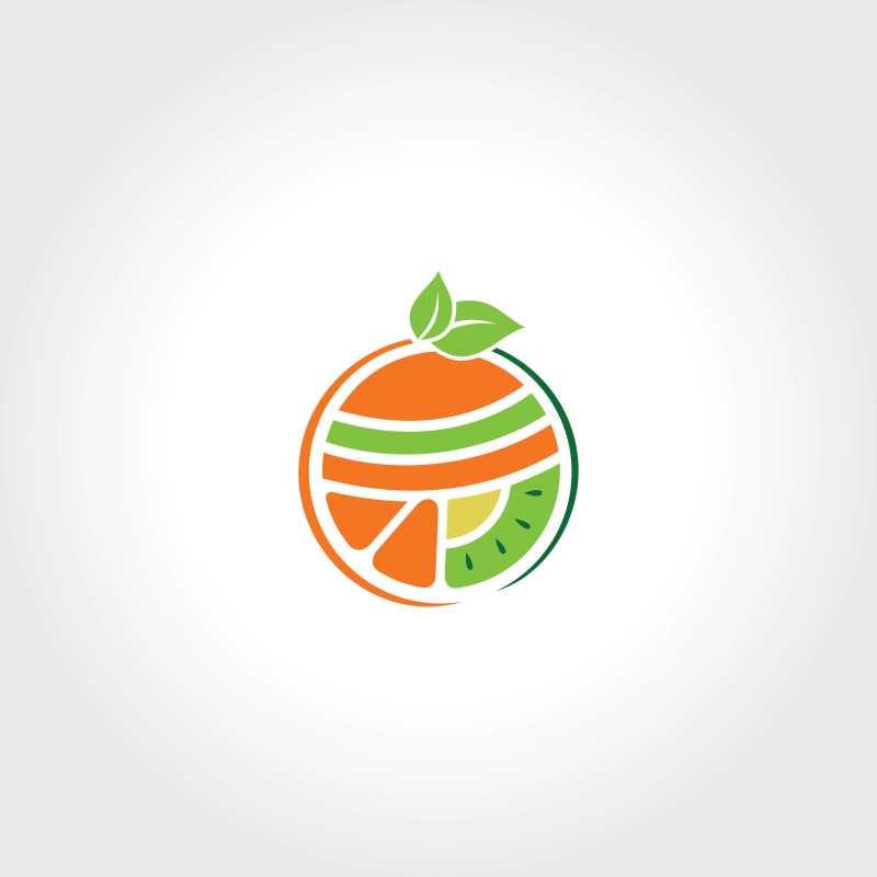 水果主题矢量商标