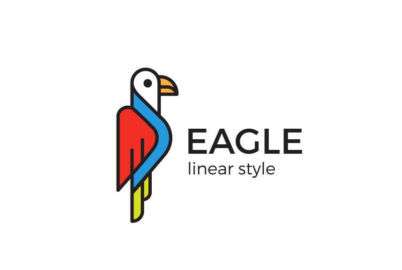 鹰标志矢量设计