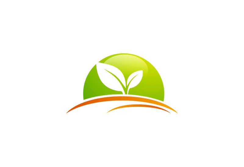 环保主题矢量商标