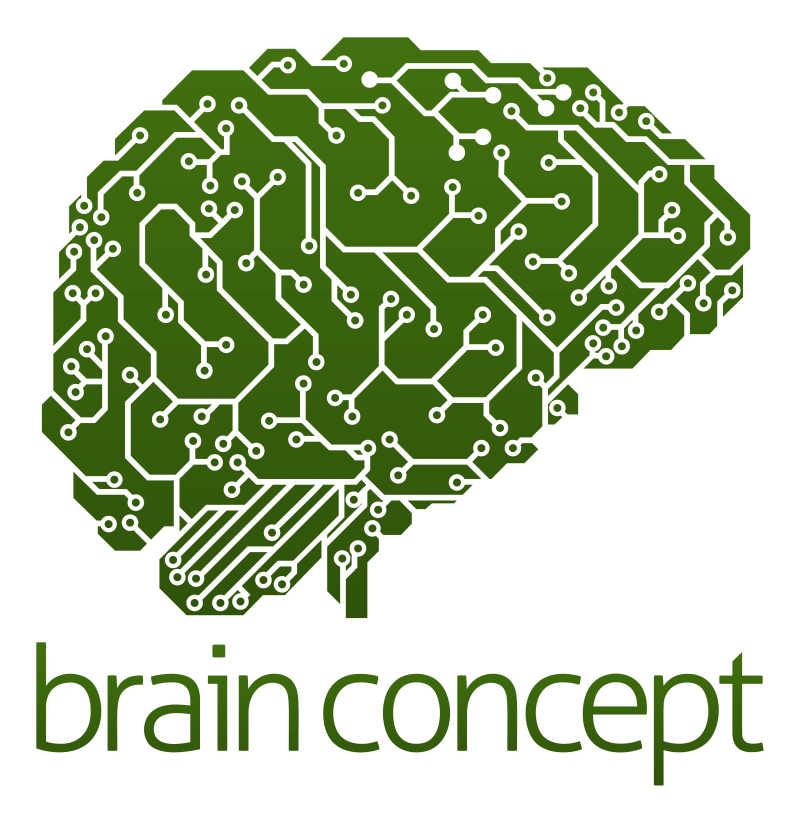 人脑形状的电路板矢量插画