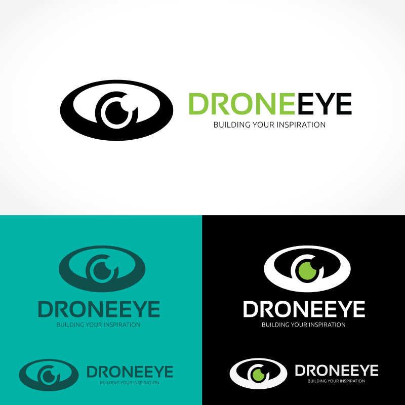 创意的矢量眼睛形状商标