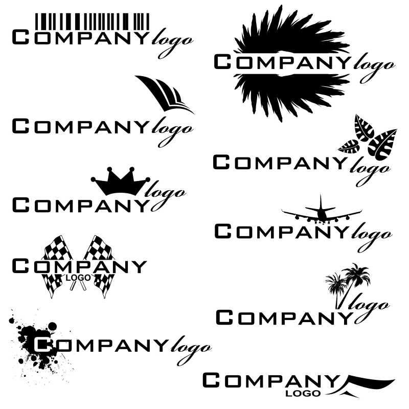 黑色的艺术字体矢量商标设计