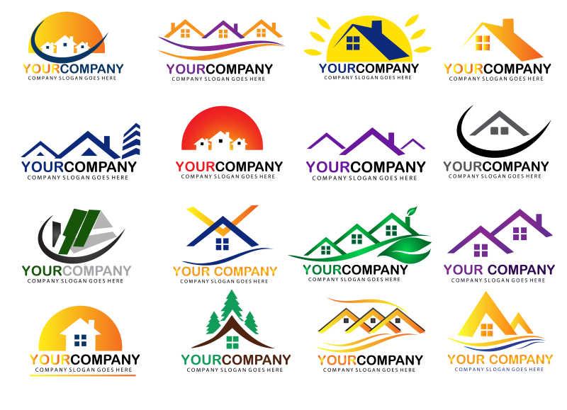 矢量房地产创意图标设计