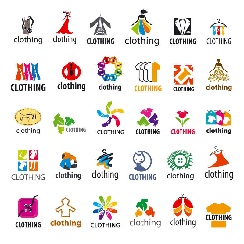 矢量服装主题商标