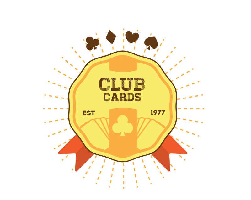 矢量俱乐部图标徽章设计