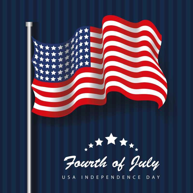 矢量美国国旗