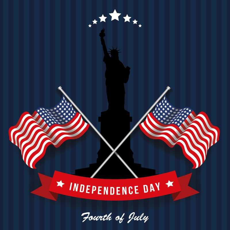 庆祝美国独立日的庆典海报矢量背景