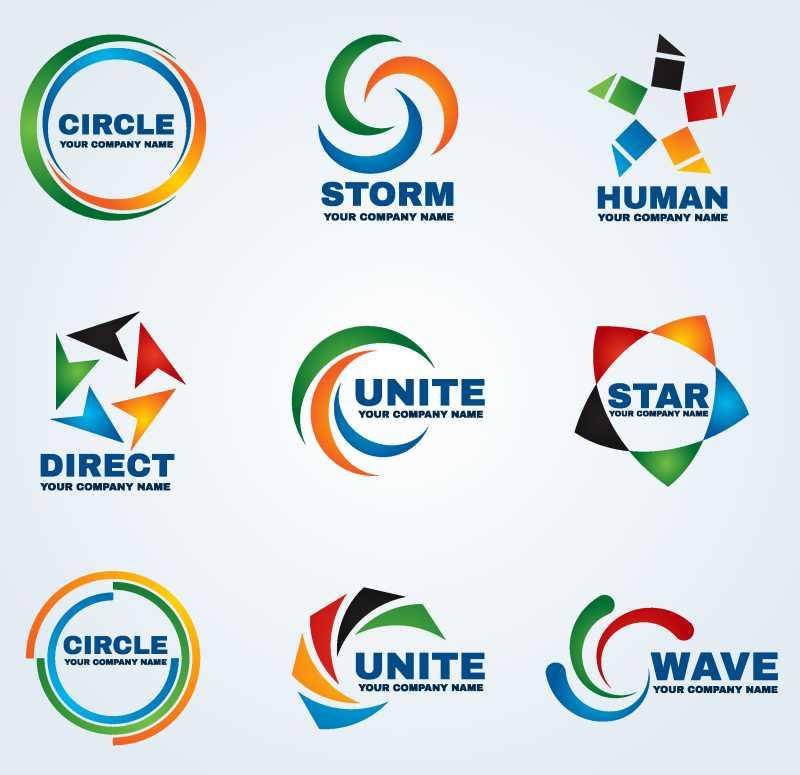 商业圈标志矢量艺术设计