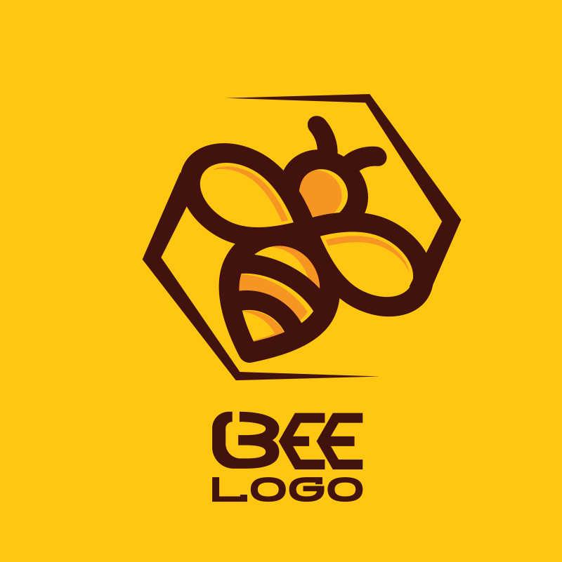 创意矢量蜜蜂品牌标志设计