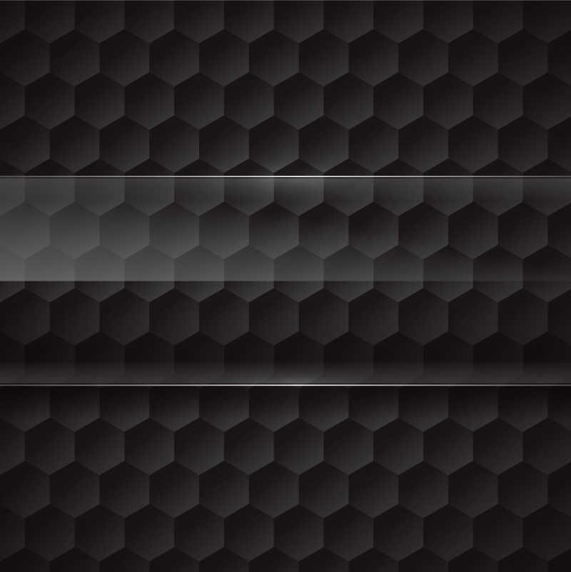 矢量黑色六边形背景