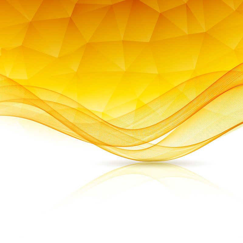 矢量抽象的黄色模板