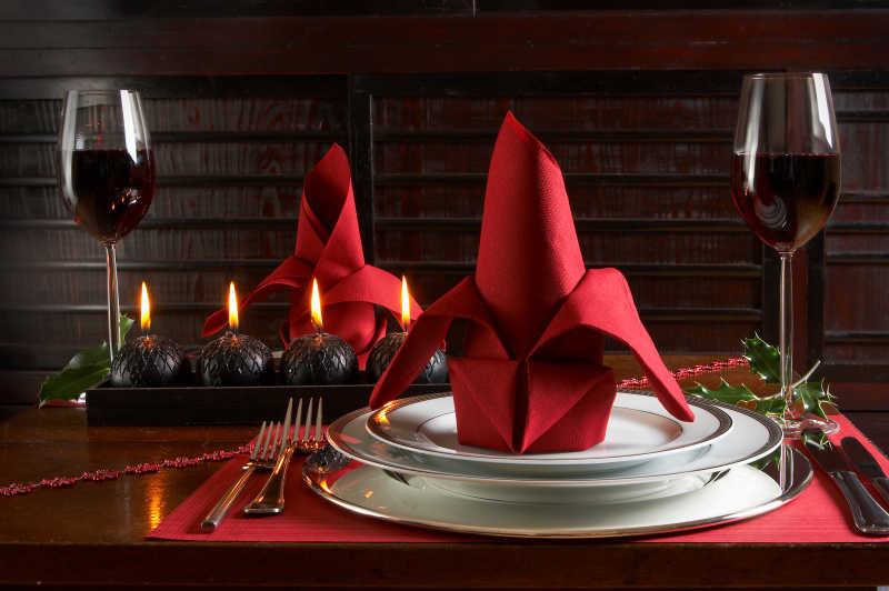 圣诞节餐桌精致装饰