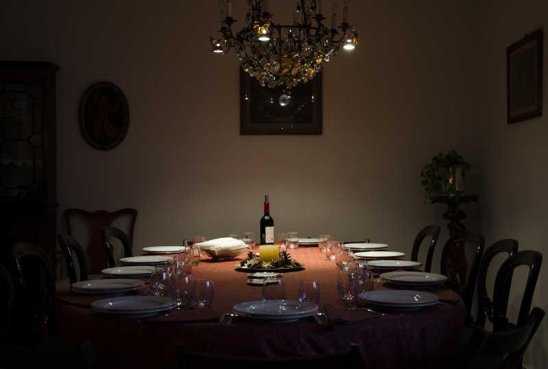 圣诞节浪漫晚餐