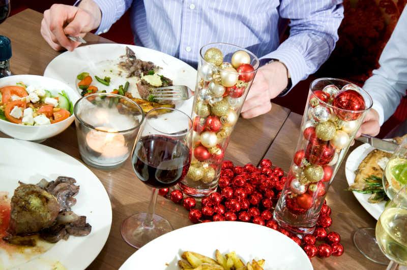 圣诞节餐桌食物