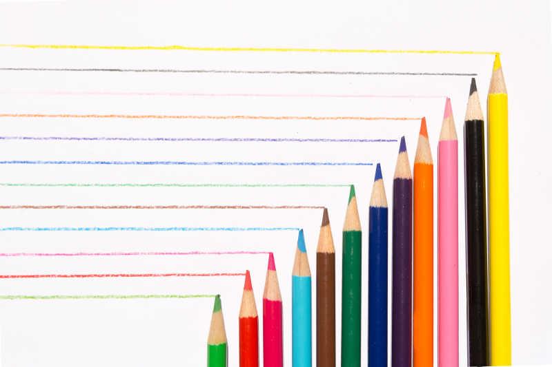 多色的铅笔