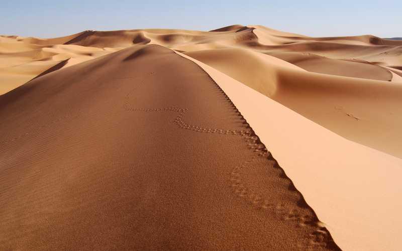 摩洛哥梅尔祖卡附近撒哈拉沙漠