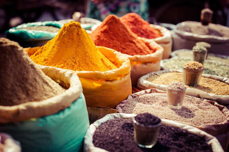 印度市场里的香料