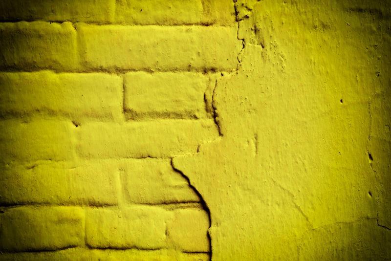 有裂缝和裂缝的砖结构背景