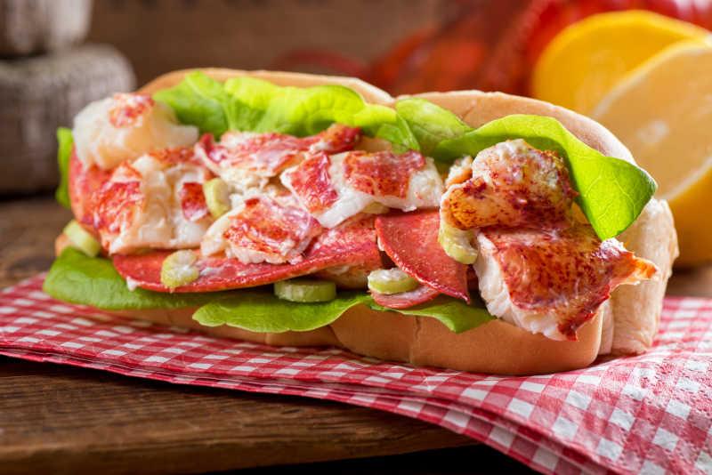 美味的龙虾三明治
