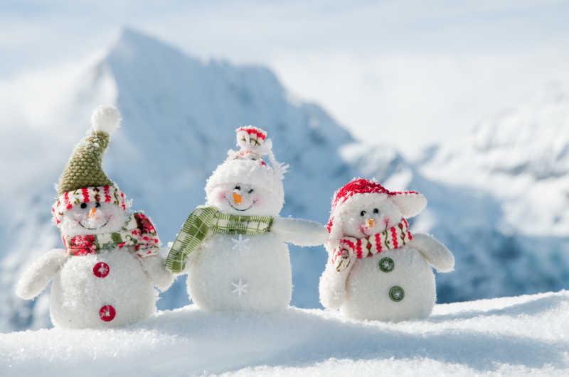 非常可爱的雪人