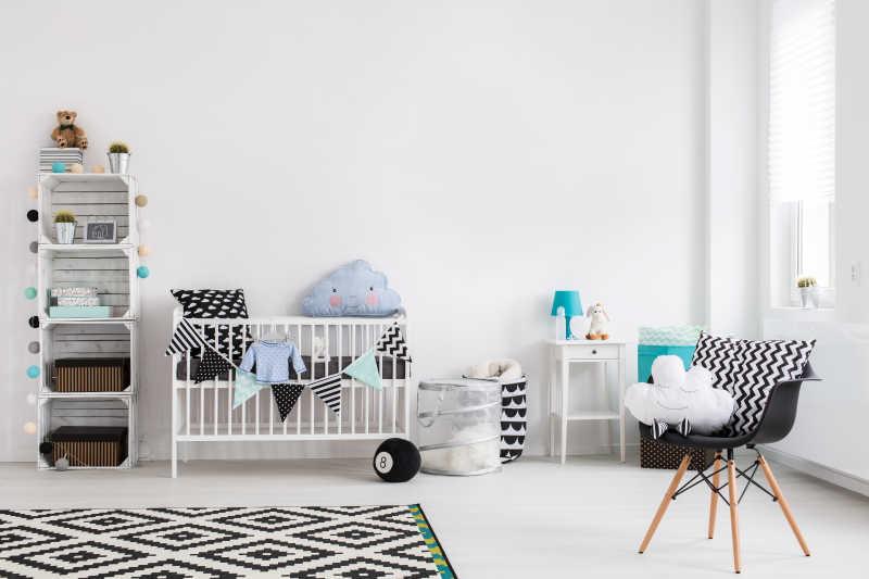 干净简洁的儿童卧室
