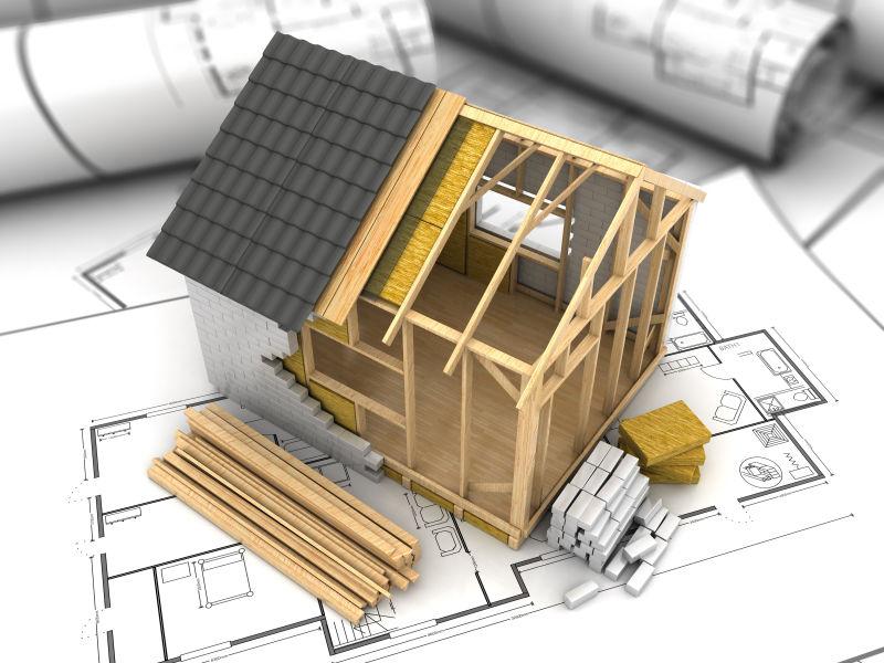 3d房屋框架设计模型和设计图