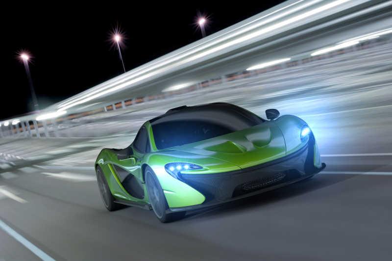 绿色的赛车