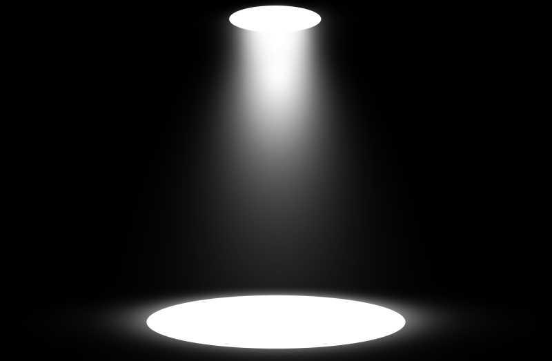 黑色背景白色聚光灯设计