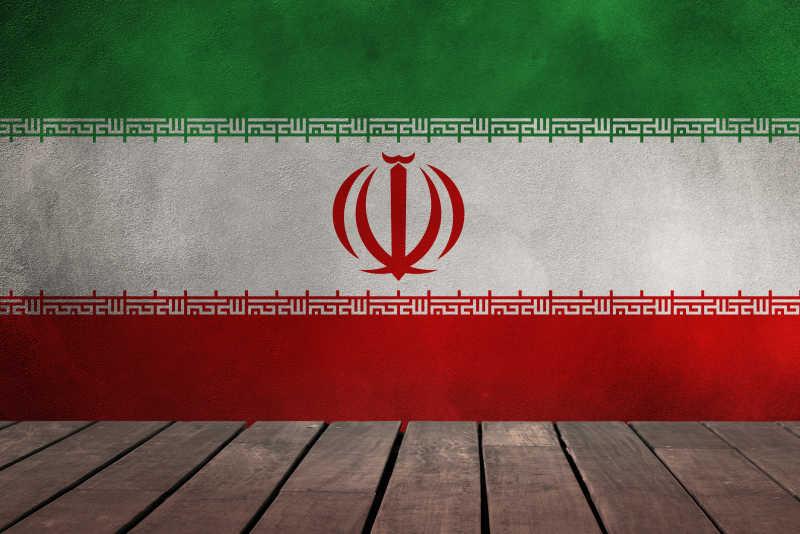 伊朗国旗壁画