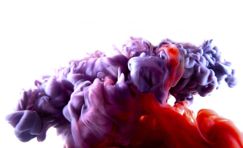 红紫色烟雾背景