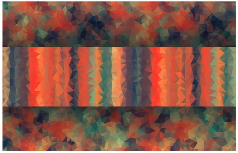 多彩抽象几何形状背景