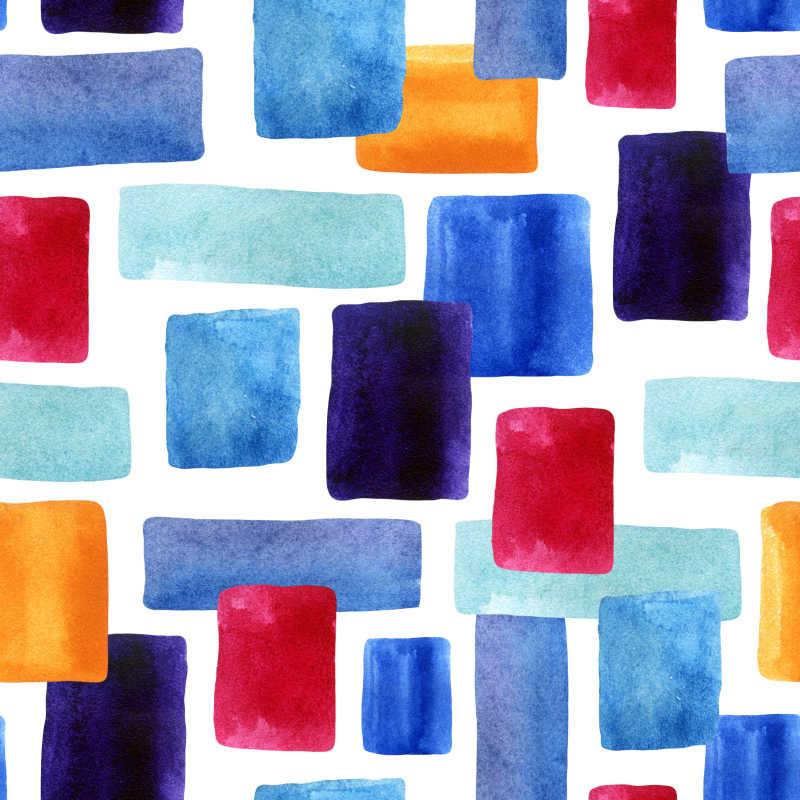 抽象水彩方格背景