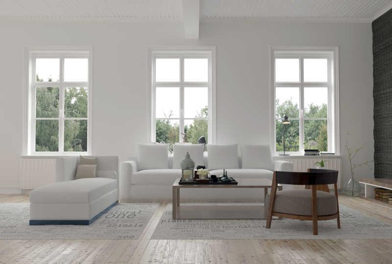 明亮的现代房间