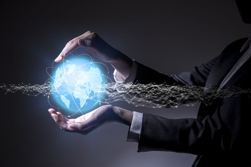 全球网络概念