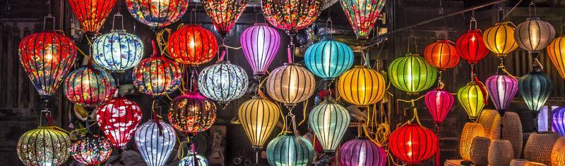 各种颜色的灯笼