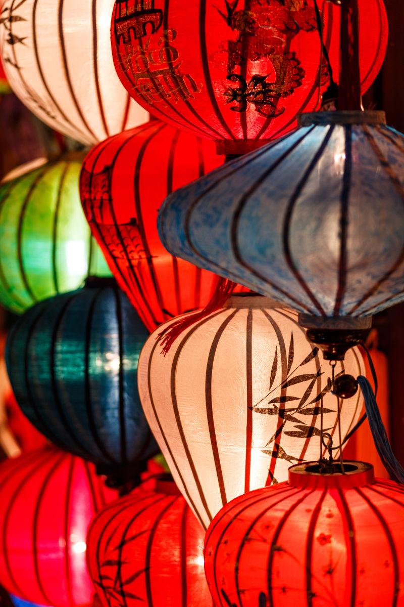 越南会安古镇的纸灯笼