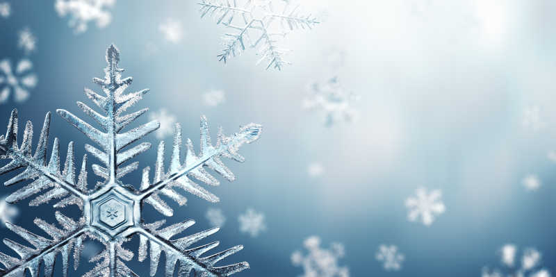 冰蓝色的雪花