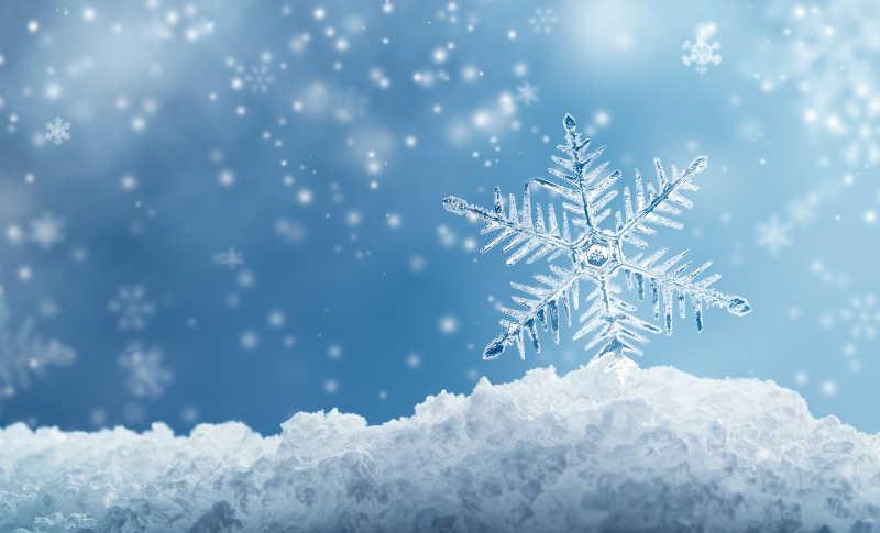 美丽的圣诞节雪花