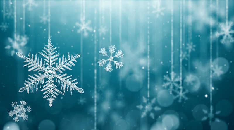 冰蓝色雪花背景