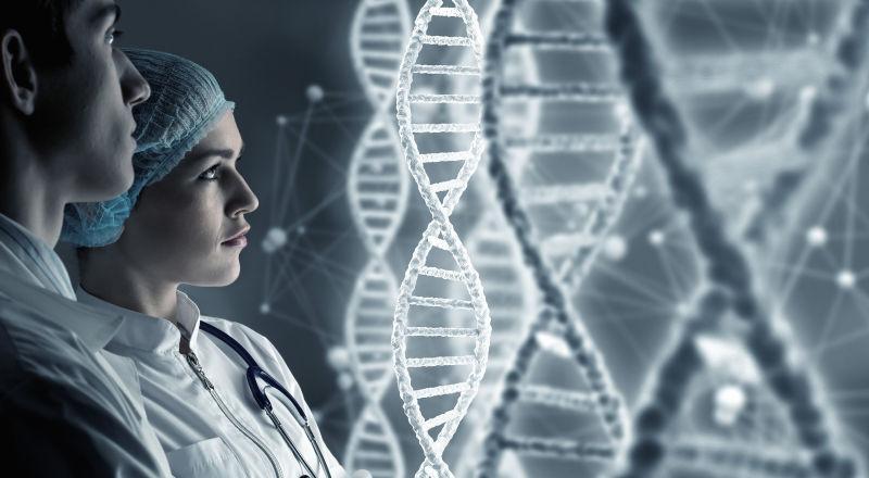 研究所里的两个生物科学家