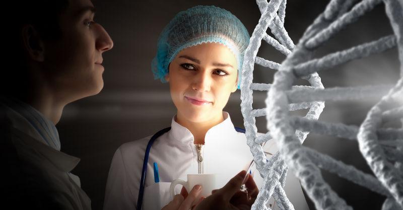 美丽的生物女科学家