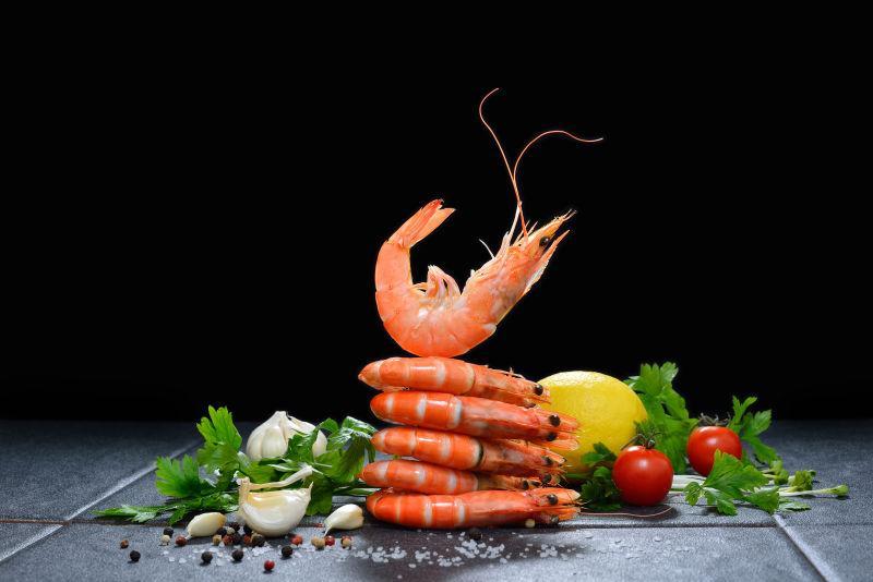 黑虾调味虾