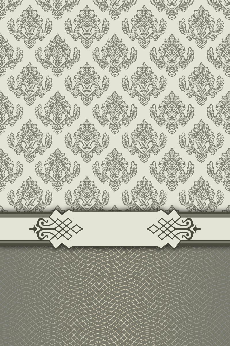 复古装饰花纹的背景墙纸