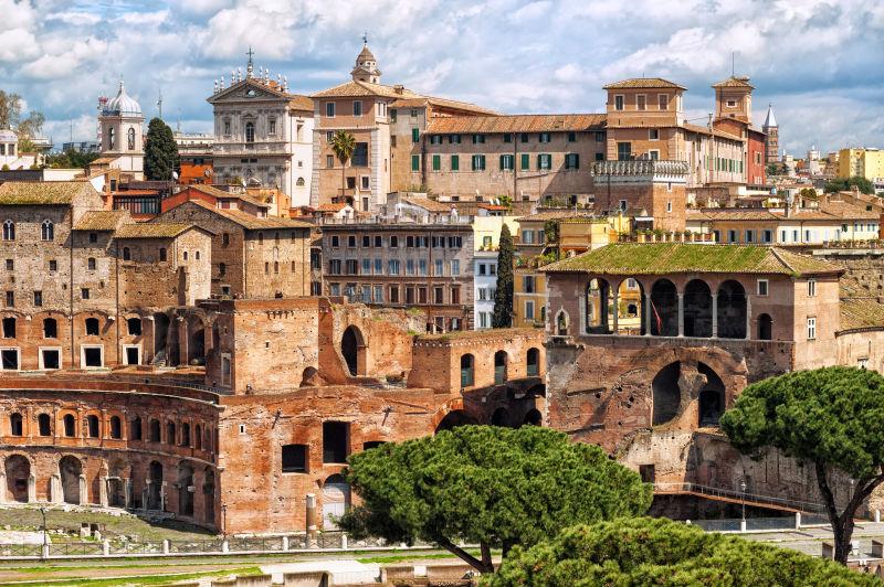 意大利罗马古建筑废墟