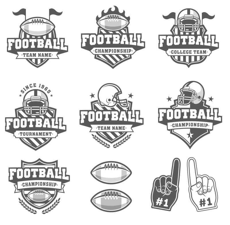 矢量橄榄球标志