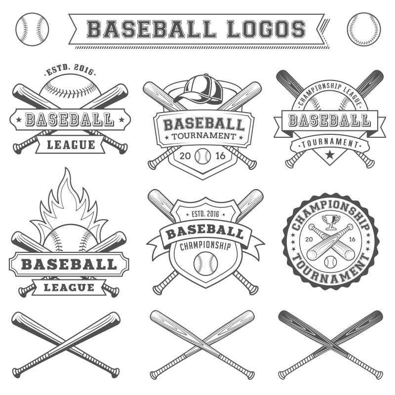 矢量棒球标志设计