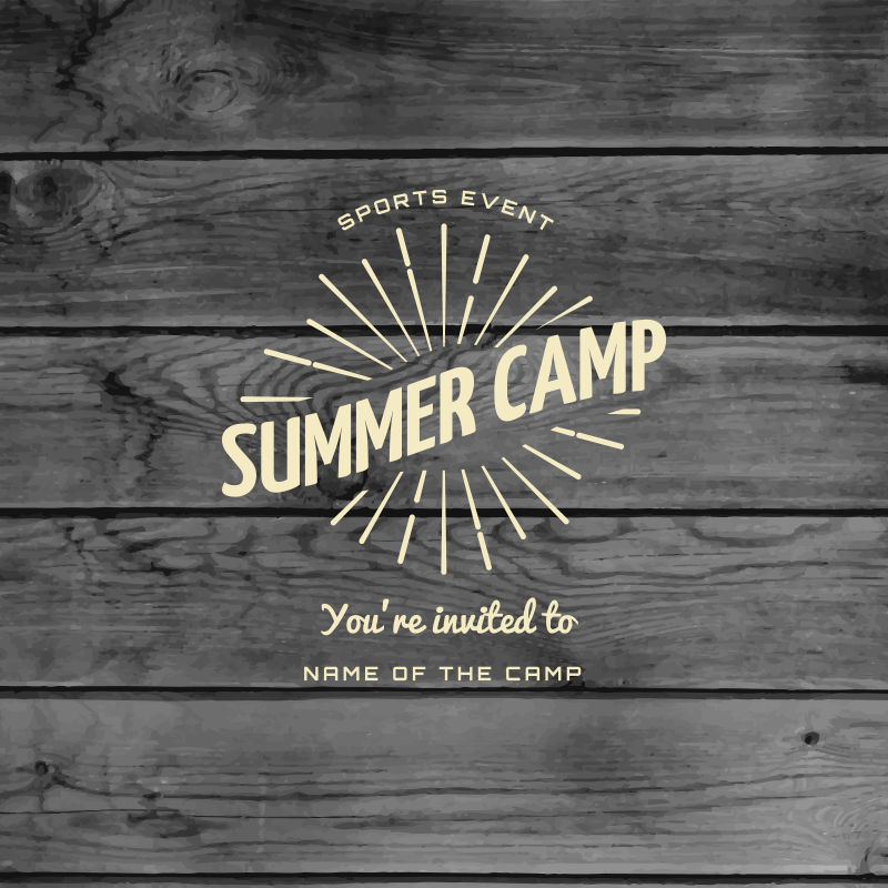 创意的夏令营标志矢量设计模板